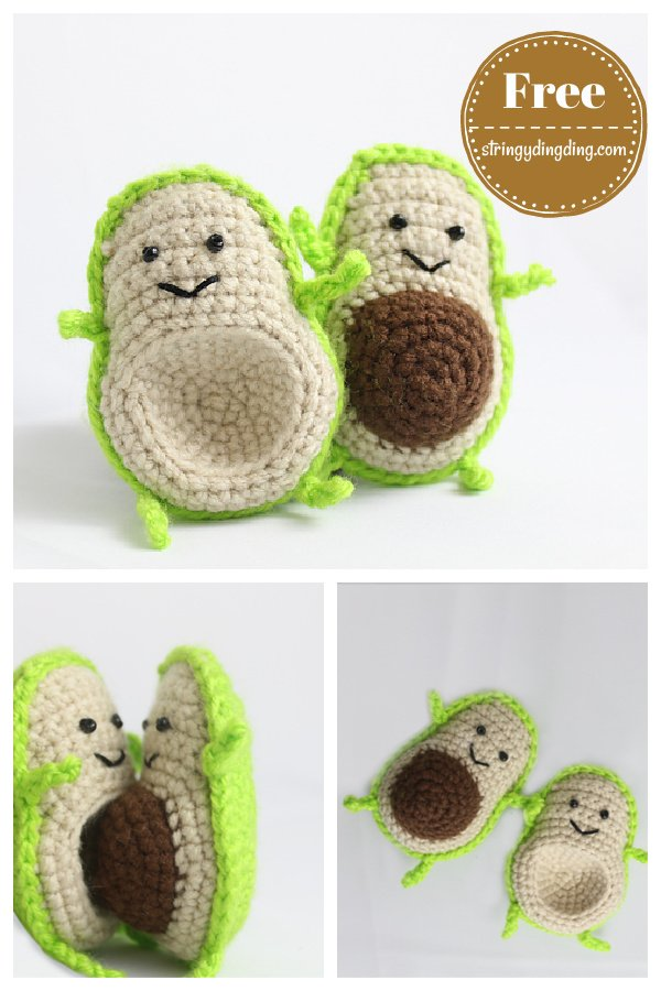 Avocado Food Friends FREE Crochet Pattern