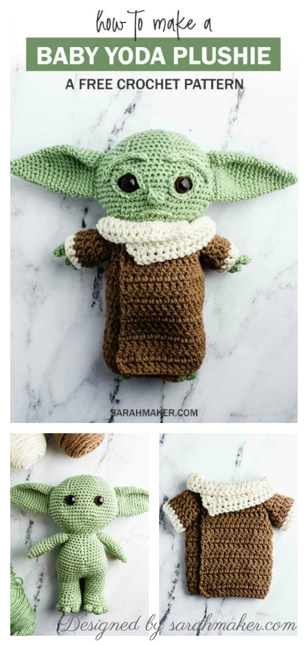 Ravelry: The Child/Baby Yoda Amigurumi pattern by hooked on fandom | 1260x600