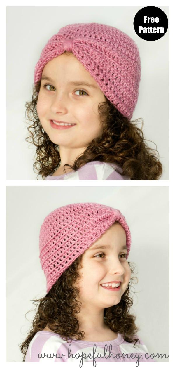 Basic Turban Hat Free Crochet Pattern