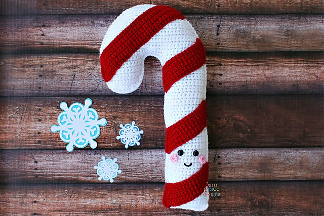 Candy Cane Kawaii Cuddler Free Crochet Pattern