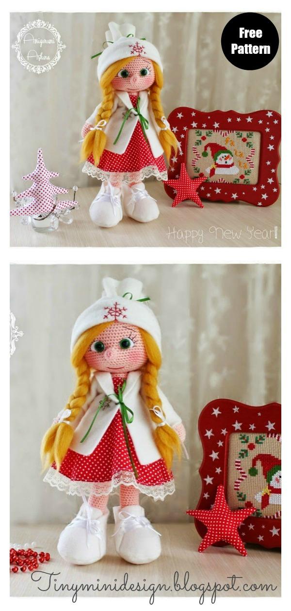 Christmas Doll Free Crochet Pattern
