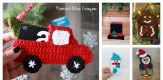 Christmas Gift Card Holder Free Crochet Pattern