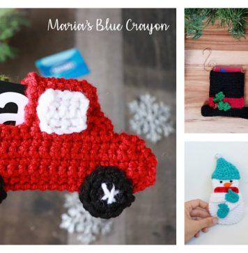 Christmas Gift Card Holder Free Crochet Pattern