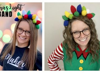 Christmas Light Headband Free Crochet Pattern