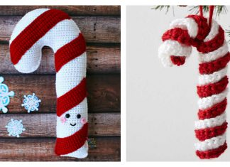 Christmas Candy Cane Free Crochet Pattern