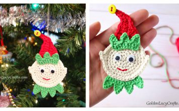 Elf Christmas Ornament Free Crochet Pattern
