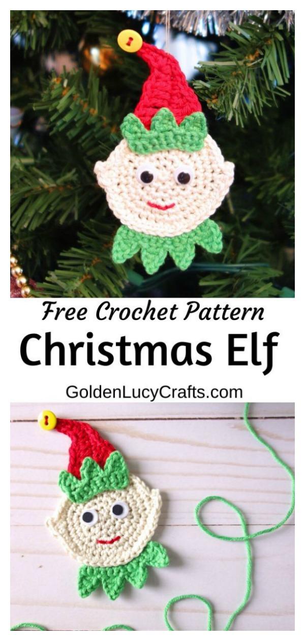 Elf Christmas Ornament Free Crochet Pattern