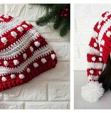 Fancy Santa Hat Free Crochet Pattern