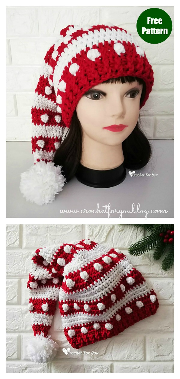 Fancy Santa Hat Free Crochet Pattern