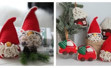 Gnome Christmas Tree Ornament Free Crochet Pattern