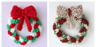Mini Christmas Wreath Free Crochet Pattern