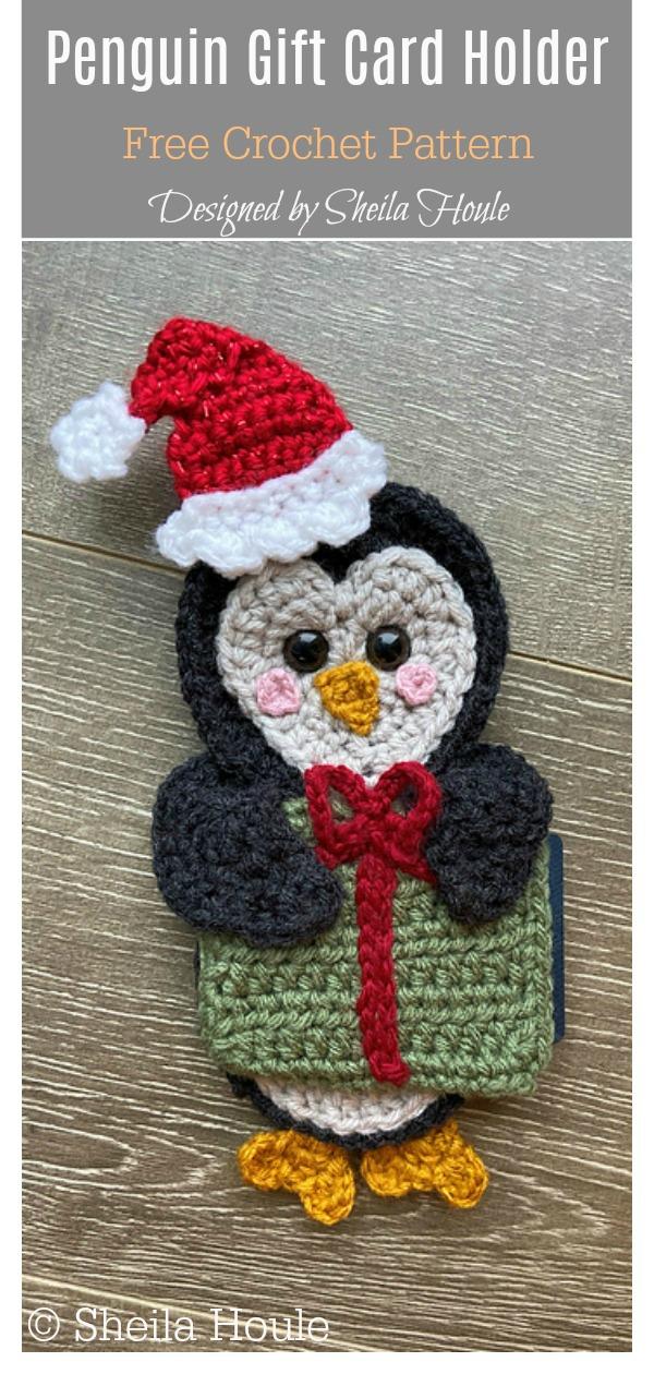 Penguin Gift Card Holder Free Crochet Pattern