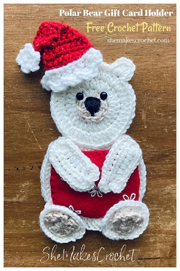 Polar Bear Gift Card Holder Free Crochet Pattern