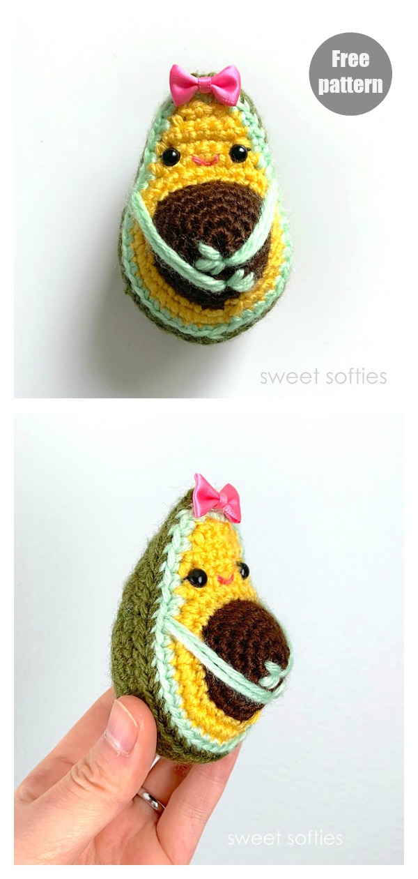Pregnant Avocado Amigurumi FREE Crochet Pattern