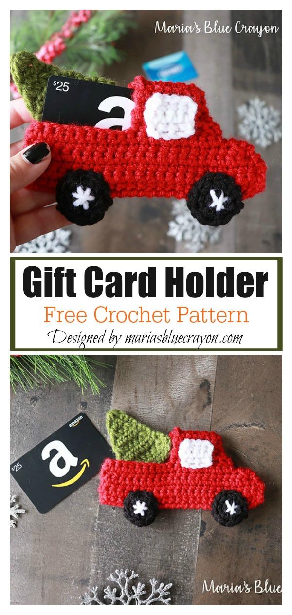 Red Truck Gift Card Holder Free Crochet Pattern