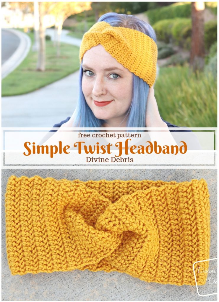 Simple Twist Headband Free Crochet Pattern
