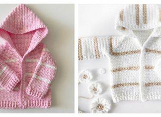 Single Crochet Baby Sweater Free Crochet Pattern and Video Tutorial