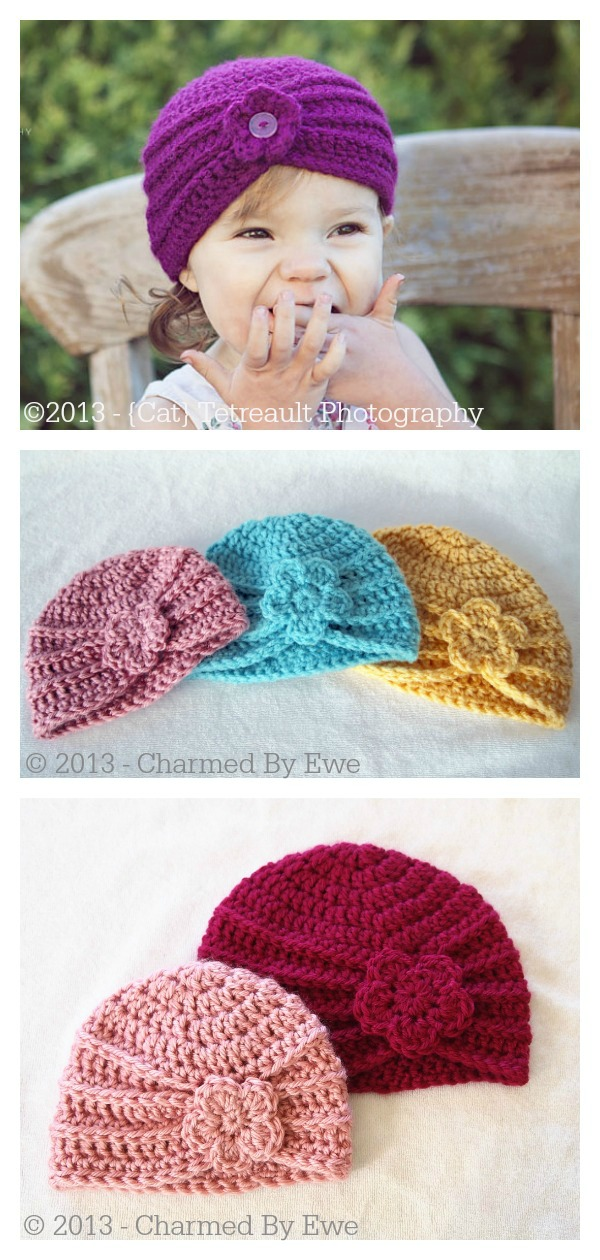 Textured Turban Hat Free Crochet Pattern
