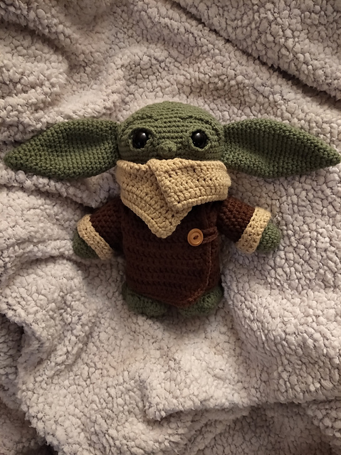 The Alien Child Yoda Free Crochet Pattern