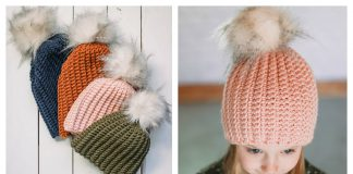 The Easiest Hat Ever Free Crochet Pattern and Video Tutorial