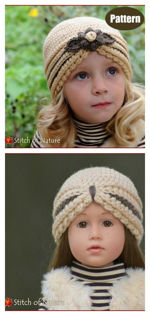 The Vivian Turban Hat Crochet Pattern