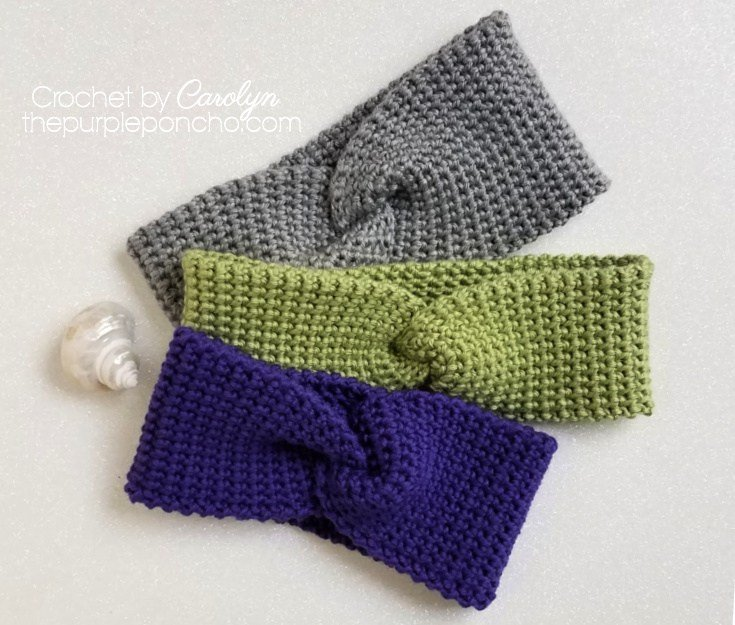 Thermal Twist Headband Free Crochet Pattern