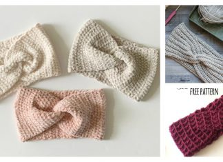 Twist Earwarmer Free Crochet Pattern