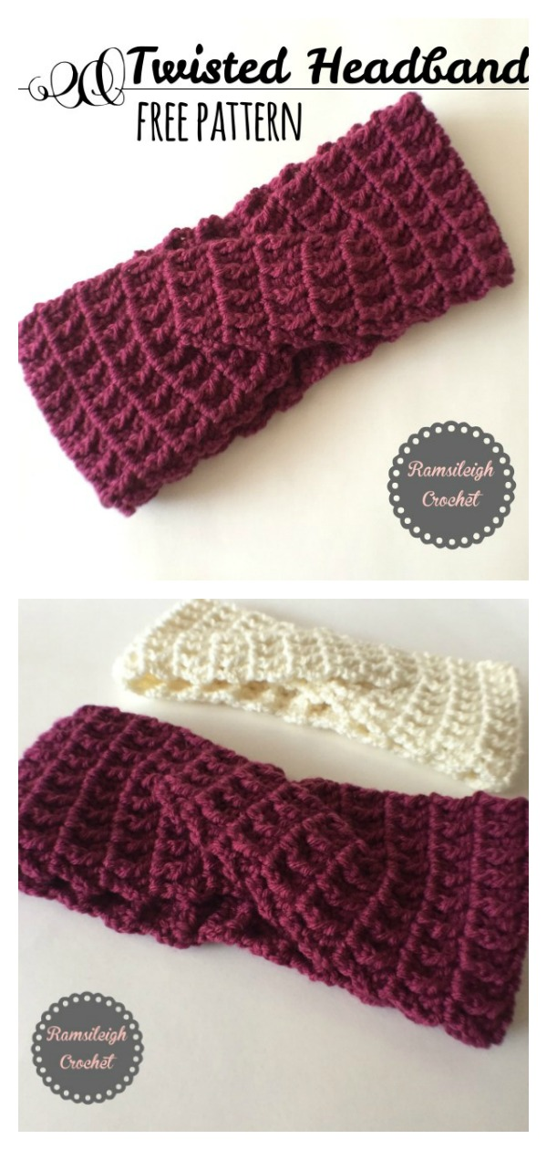 Twisted Headband Free Crochet Pattern