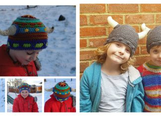 Viking Horn Hat Free Crochet Pattern
