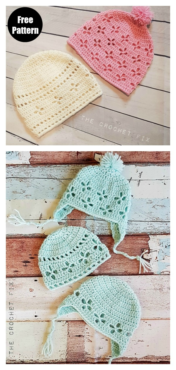 Vintage Vibes Baby Beanie Free Crochet Pattern