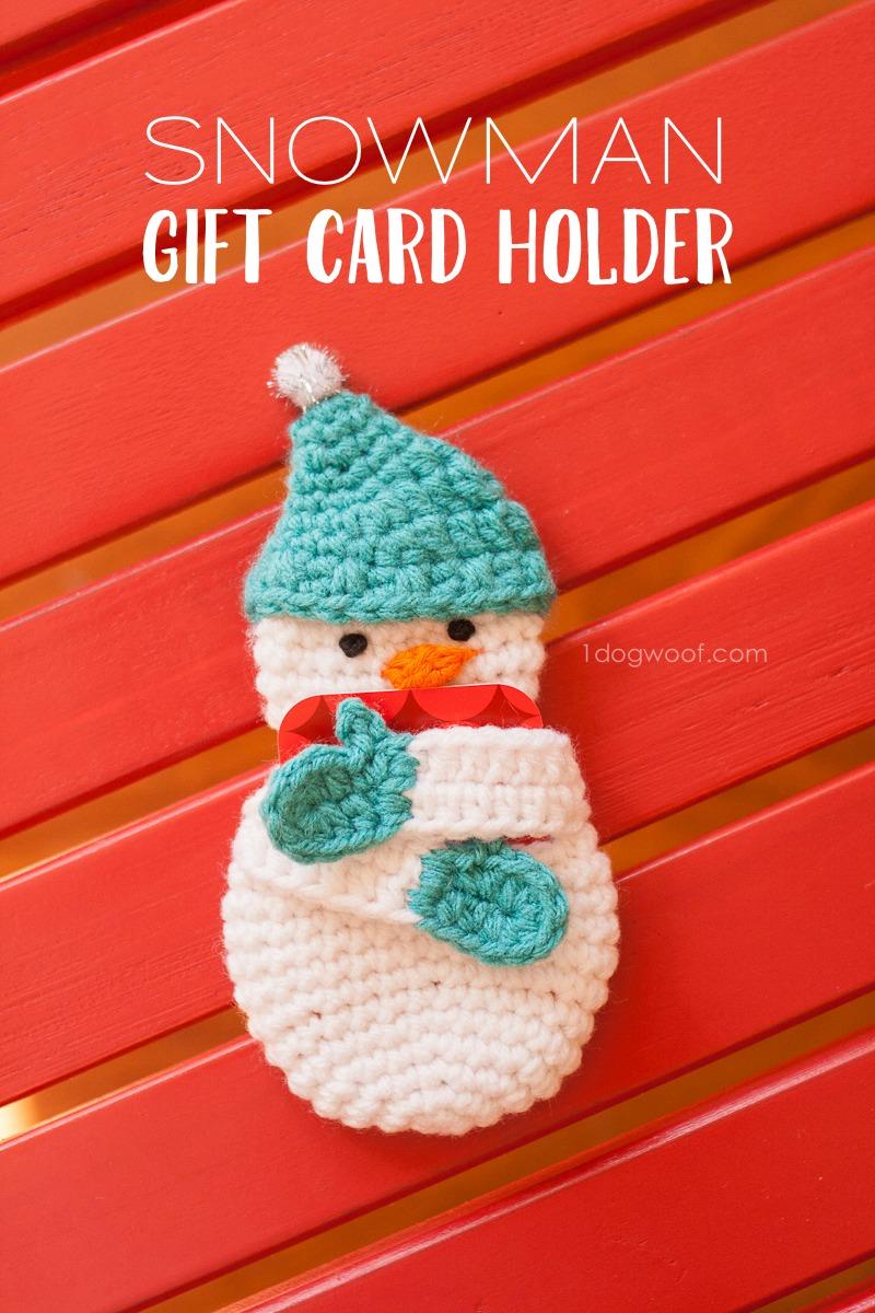 Snowman Gift Card Holder Free Crochet Pattern