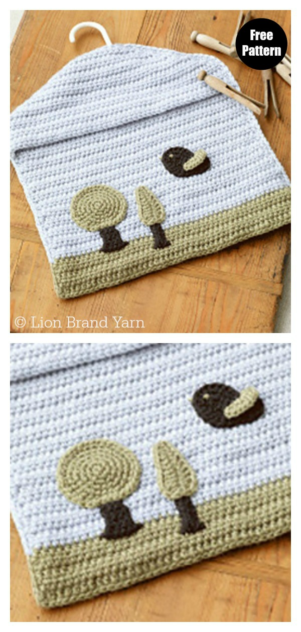 Accessories Peg Bag Free Crochet Pattern