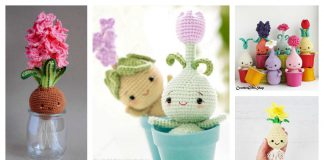Adorable Amigurumi Flower Bulb Free Crochet Pattern and Paid
