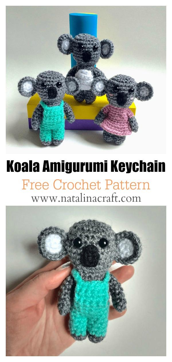 fabartdiy Crochet Teddy Bear Keychain Amigurumi Free Patterns f | 1260x600