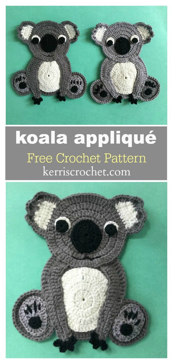 Adorable Koala Appliqué Free Crochet Pattern