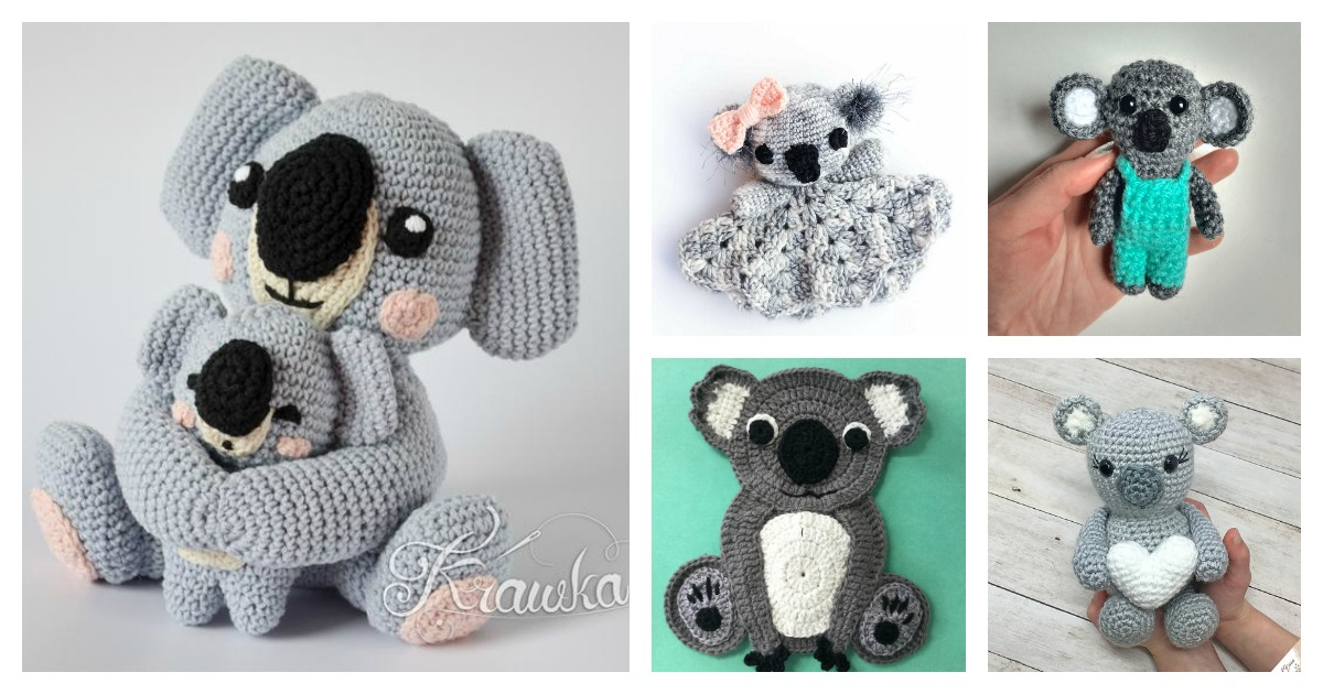 Crochet Koala Amigurumi Free Patterns - DIY Magazine | 630x1200