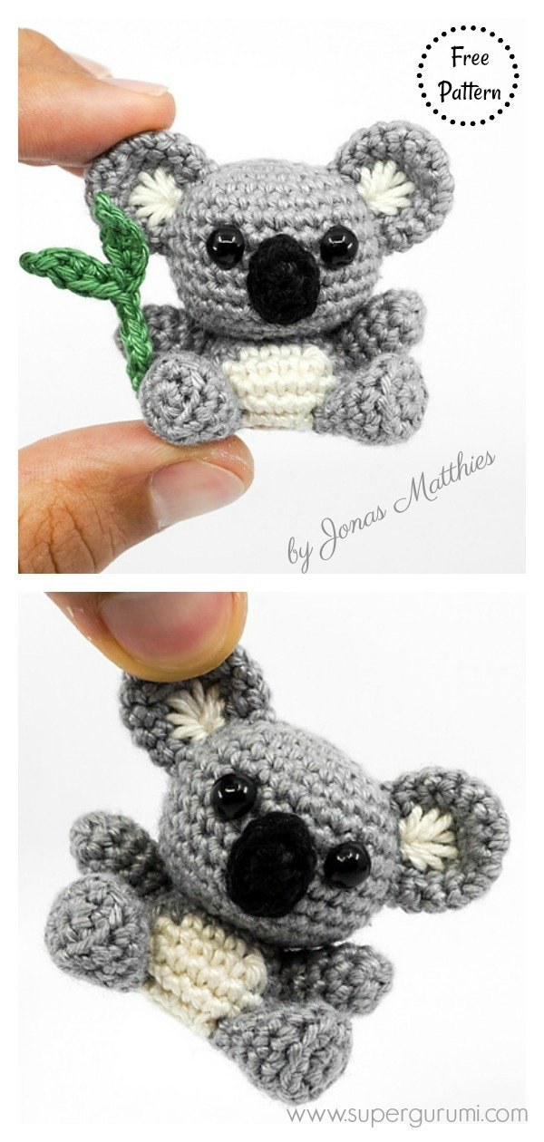 Adorable Mini Koala Amigurumi Free Crochet Pattern