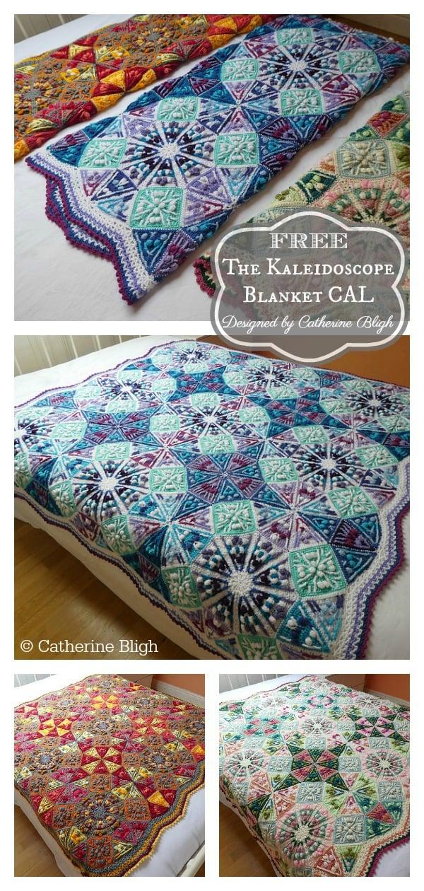 Amazing The Kaleidoscope Blanket Free Crochet Pattern