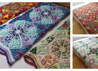 Amazing The Kaleidoscope Blanket Free Crochet Pattern