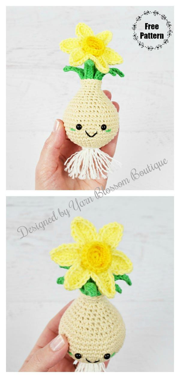Amigurumi Daffodil Flower Bulb Free Crochet Pattern