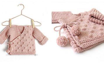 Baby Kimono Sweater Free Crochet Pattern
