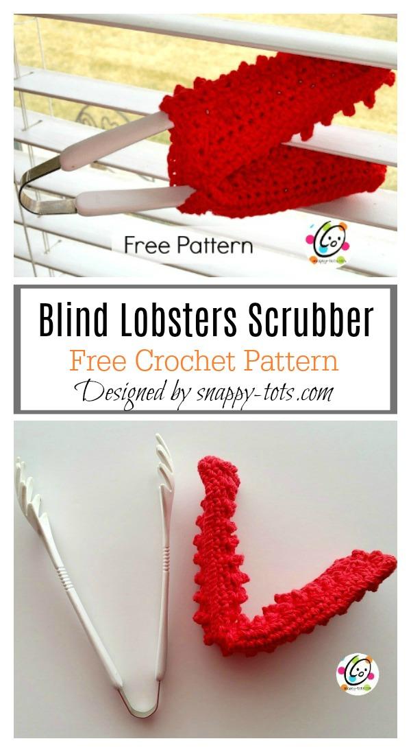 Blind Lobsters Scrubber Free Crochet Pattern
