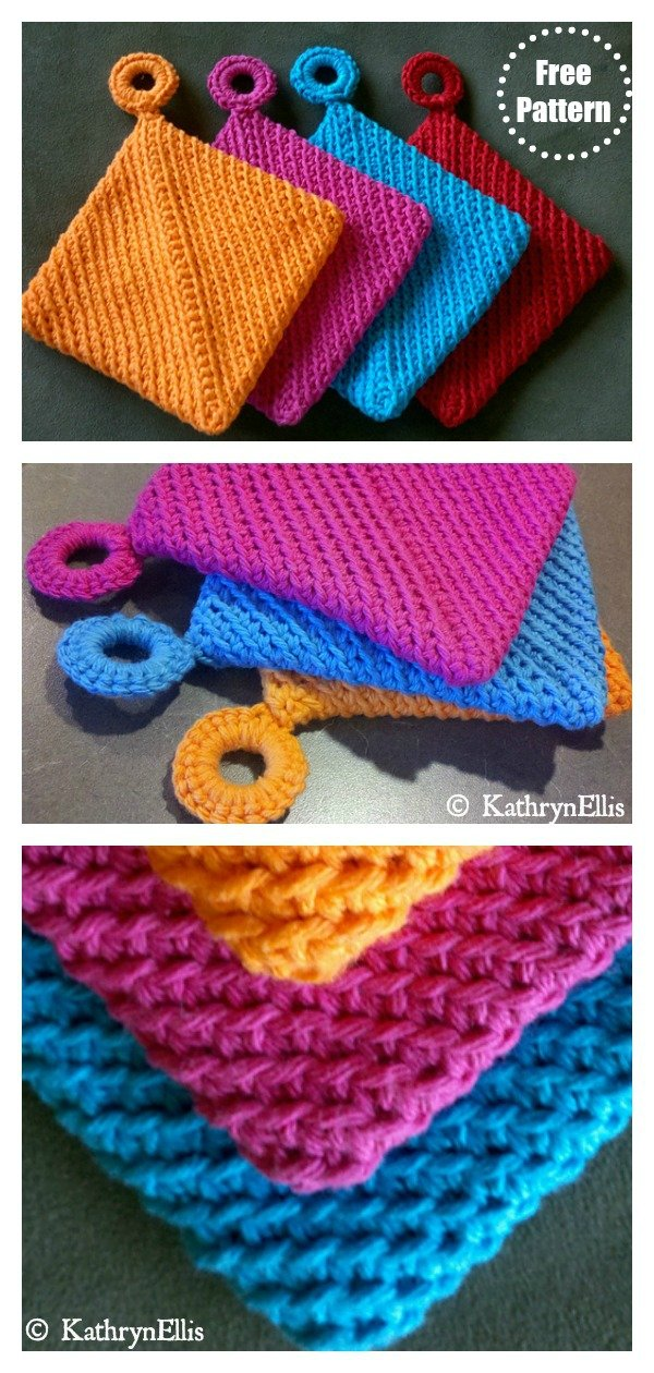 Double Sided Folded Potholder Free Crochet Pattern