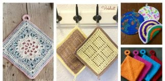 Double Sided Potholder Free Crochet Pattern