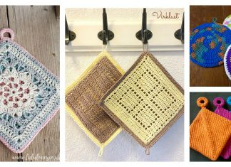 Double Sided Potholder Free Crochet Pattern