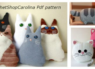 Fun Animal Cat Pillow Free Crochet Pattern and Paid