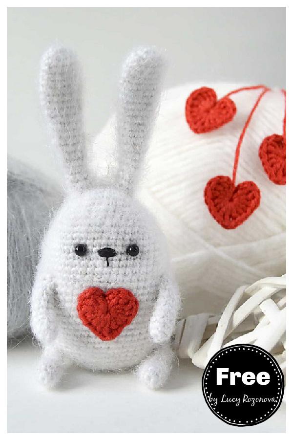 Heart Bunny Free Crochet Pattern
