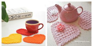 Heart Coaster Free Crochet Pattern and Paid