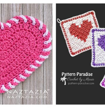 Heart Washcloth Free Crochet Pattern