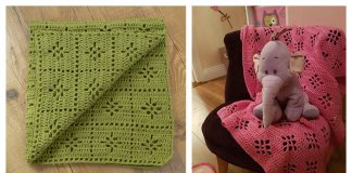Little Axel Flower Baby Blanket FREE Crochet Pattern